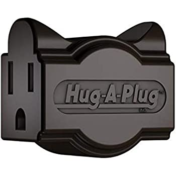 4 Pack Brown Hug-A-Plug Dual Outlet Wall Adapter