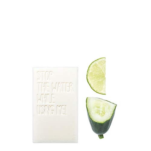 STOP THE WATER WHILE USING ME! All-Natural Cucumber Lime Soap (125g), savon mains rafraîchissant, savon biologique concombre & citron vert