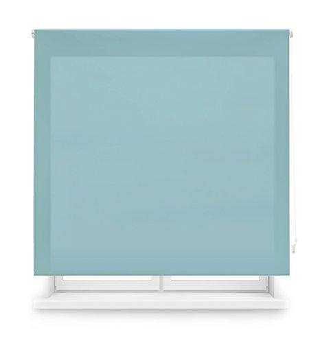Blindecor Ara - Estor enrollable translúcido liso, Azul Celeste, 120 x 175 cm (ancho x alto)