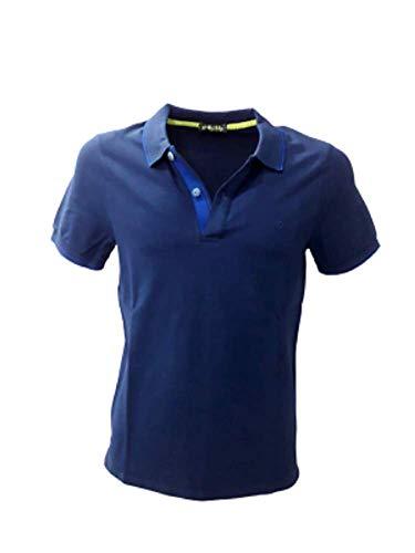 Shockly Herren-Poloshirt Art .M-Polo Logo Yacht Blue, Blau 58