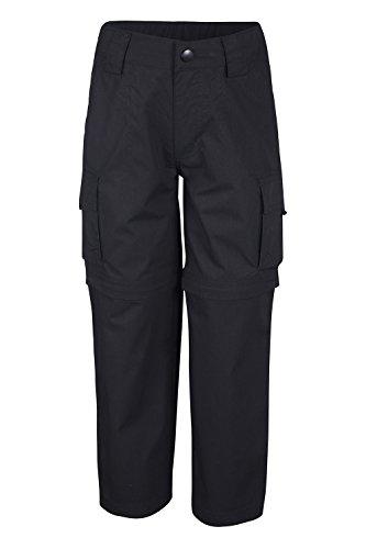 Mountain Warehouse Pantalón Convertible Active para niños - Pantalón Ligero para niños, pantalón de Secado rápido, Bolsillos - para Viajar y Acampada Negro 7-8 Años