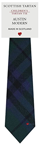 I Luv Ltd Garçon Tout Cravate en Laine Tissé et Fabriqué en Ecosse à Austin Modern Tartan