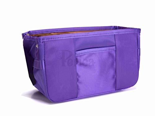 Periea - Handtaschen-Organizer Geldbeutel-Einsatz, 11 Fächer - Gabriella (Lila)