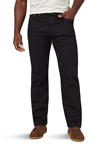 Wrangler Herren Authentics Men's Classic Relaxed Fit Jeans, Black Flex, 36W / 32L