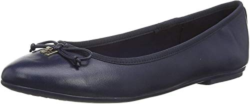 Tommy Hilfiger Damen Feminine Leather Knot Ballerina Pumps, Blau (Sport Navy Db9), 38 EU