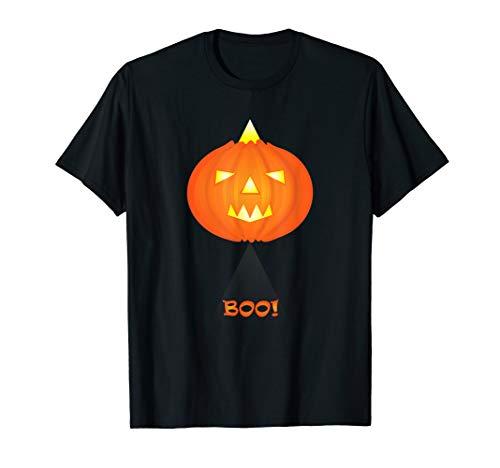 Boo! Halloween-Kürbislaterne als ausländischer Kürbis T-Shirt
