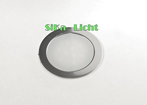 1 x Feuchtraum Slim LED Disk Floorlight Bodenleuchte Flatty Fliesen Laminat 12V 0.5W IP67 in warmweiß