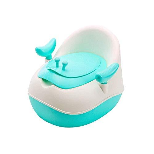 MinMin Kindertrainingsstoel, Draagbare kinderstoel, Comfortabel handvat en spatbord, Afneembare Potty, Eenvoudig te monteren toiletbril voor jongens en meisjes