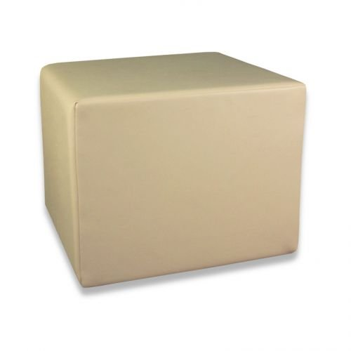 Fränkische Schlafmanufaktur Stufenlagerungswürfel, Bandscheibenwürfel, Lagerungswürfel, mit Soft-Kunstlederbezug, ca. 50x45x40 Farbe Beige