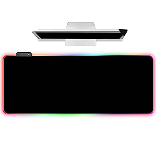 LIEBIRD Extended XXL Gaming Mouse Pad - Portable Large Desk Pad for Laptop - Non-Slip Rubber Base (RGB Black)