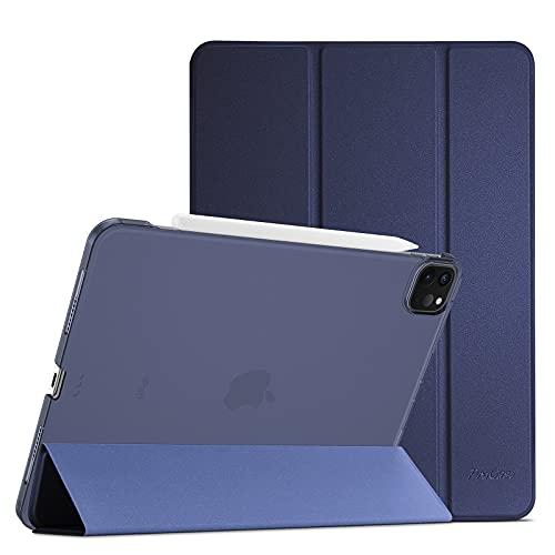 """ProCase Custodia per iPad Pro 12,9"""" 2021(5ªGenerazione, A2378 /A2461 /A2379 /A2462), Smart Cover Ultra Sottile Leggero Traslucida Smerigliata con Auto Svegliati/Sonno -Blu Marino"""