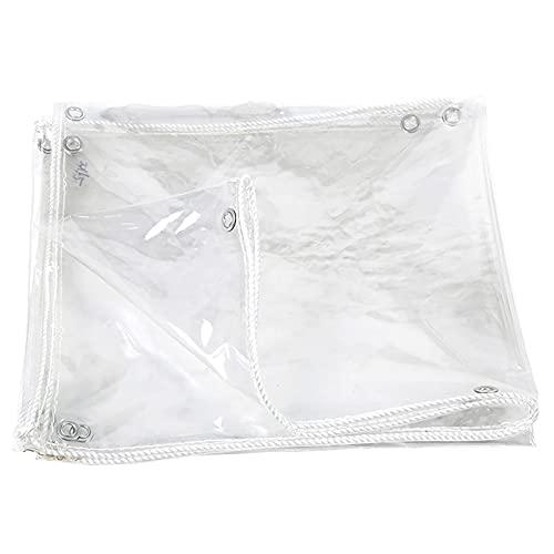 PVC Is Zeer Transparant En Multifunctioneel, Transparant Zeildoek,het Waterdichte Balkondoek Is Stofdicht, Ademend, Waterdicht En Transparant (Color : Clear, Size : 2mx5m)