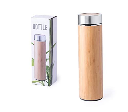 Botella isotérmica de 500 ml de bambú | ecológica (1)