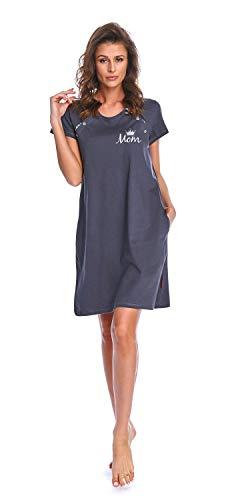 dn-nightwear Camisón de maternidad para mujer, para hospital, camisón de lactancia, camisón...