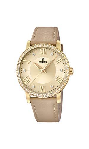 Festina Damen Analog Quarz Uhr mit Edelstahl Armband F20413/1