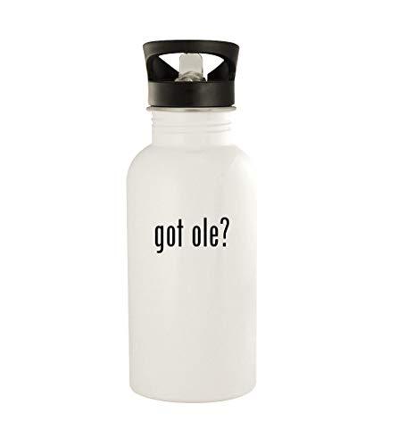 got ole? - 20oz Stainless Steel Water Bottle, White