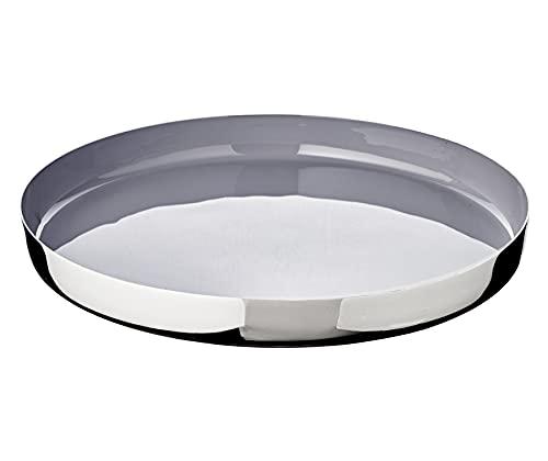 Edzard Plateau Clemens, Verte, en Aluminium nickelé, diamètre 40 cm