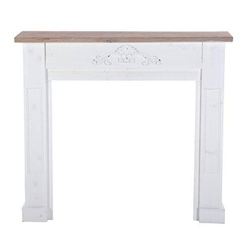 DESIGN DELIGHTS DECO, open haard piLATUS, antiek wit, 110x100 cm, Paulownia | Country Style open haard frame
