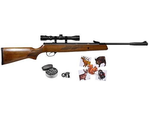 Wearable4U Hatsan Mod 95 Spring Combo .22 Cal Air Rifle 100x Paper Targets and 250x .22cal Pellets Bundle