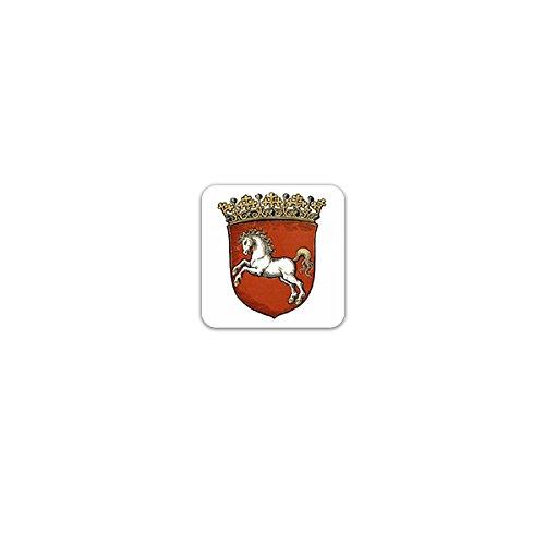 Copytec Aufkleber/Sticker -Provinz Hannover Wappen Preußische Provinz Historisch Niedersachsen Deutschland Emblem Stadtwappen 7x7cm #A3230
