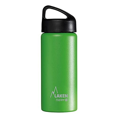 Laken Bouteille Isotherme Classique en Acier Inoxydable avec Isolation Sous Vide et Goulot Large 500 ml Vert