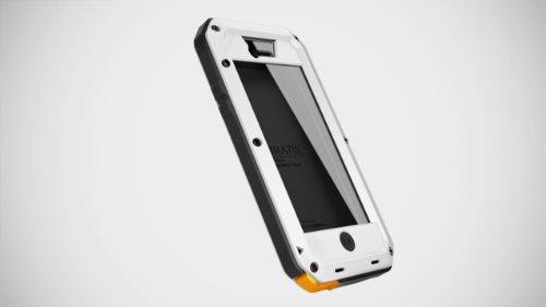 Lunatik Taktik Extreme - Sistema de protección para iPhone 5 y 5C (con cristal Corning Gorilla), color blanco