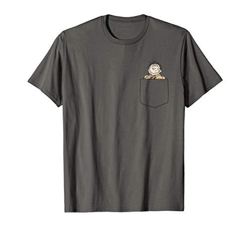 Peanuts Snoopy Pig Pen Faux Pocket T-Shirt
