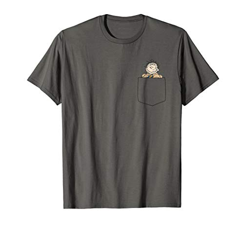 Peanuts Snoopy Pig Pen Faux Pocket T-Shirt