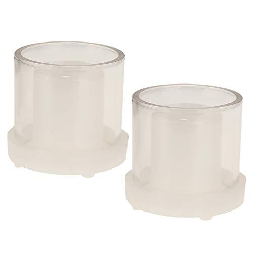 P Prettyia 2pcs Moule à Bougie en Plastique Forme de Cylindre DIY Fournitures Artisanale