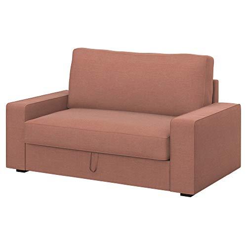 Soferia Funda de Repuesto para IKEA VILASUND sofá Cama 2 plazas, Tela Elegance Blush Pink, Rosa
