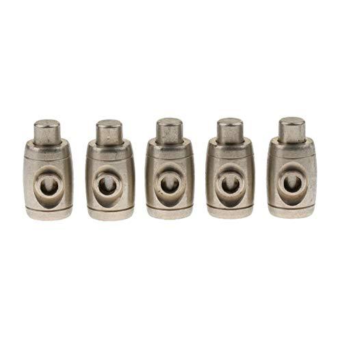 Das elektromagnetische Ventil 100% nagelneu und Qualitäts-Musik Zubehör 5 Stück von Set Posaune Spit Valve Wasserschlüssel Zubehör for Trompete Lovers Industriebedarf (Color : Silver)