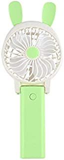 Harddo Mini ventilador de mano, mini ventilador de mesa con USB de funcionamiento portátil para la oficina y viajes, Verde