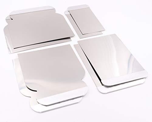 rokkel Japanspachtel Set - flexible Blätter aus rostfreien Edelstahl zum glätten und abziehen - 8er Set Edelstahl