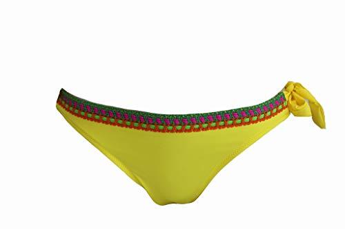 Antigel Bikinihose Gr. 42 La Santa Gelb Bikini Slip Swim Bottom Swimwear #X214c