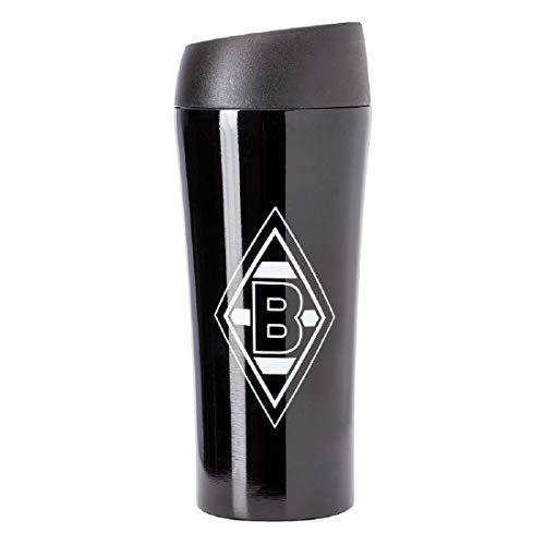 Borussia Mönchengladbach Thermobecher Raute schwarz