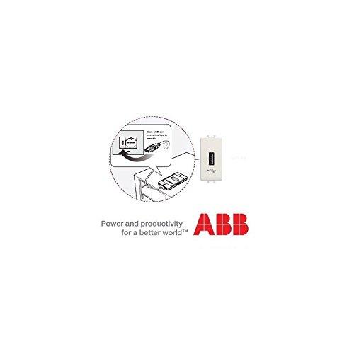 CARICATORE USB 500MA 5VDC ABB SERIE CHIARA