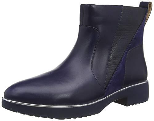 FitFlop Damen Cb5-090 Salma Zip Ankle Boot-Lizard Mix, Maritime Blau, 37 EU