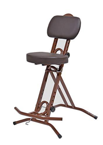 LIBEDOR Stehhilfe Stehhocker Stehsitz Sitz Sitzhilfe Stehstütze BRAUN ergonomischer Sitz mit 6 cm dickem Polster bis 130 kg belastbar TGBR