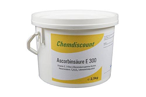 2,5kg Ascorbinsäure (Vitamin C), Lebensmittelqualität E300, versandkostenfrei