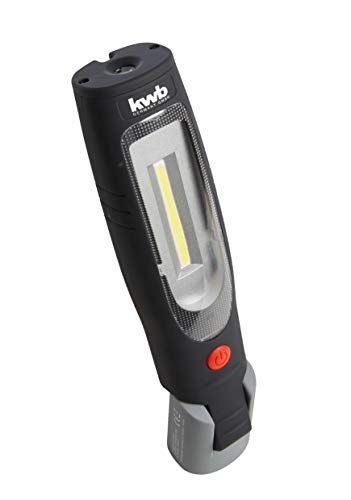 kwb Akku Arbeits-Leuchte mit COB LED Technik, 2600 mAh Li-Ion Batterie, ANSI FL 1 - Standard, Lampe mit 2 Leucht-Modi, Stab-Form