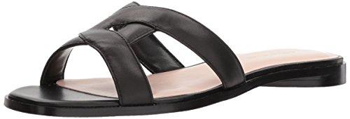 Avec Les Filles Women's Blaye Flat Sandal, black nappa, 8.5 M US