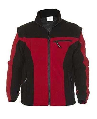 Hydrowear 04026014 F Keulen Polar Polaire pour homme, 100% polyester, grande taille, Rouge/noir