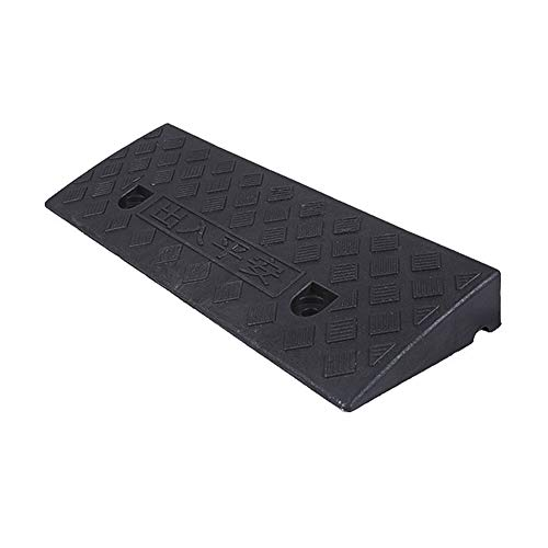 LILL Curb Ramps Rubber Road Curb Ramp Rubber Road Along The Ramp Triangle Step Threshold Pad Tire Anti-skid Deceleration Zone Waterproof And High Temperature Resistance