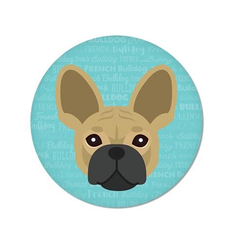 Mystic Sloth Adorable Dog Design 2.5' Round Magnet (French Bulldog)
