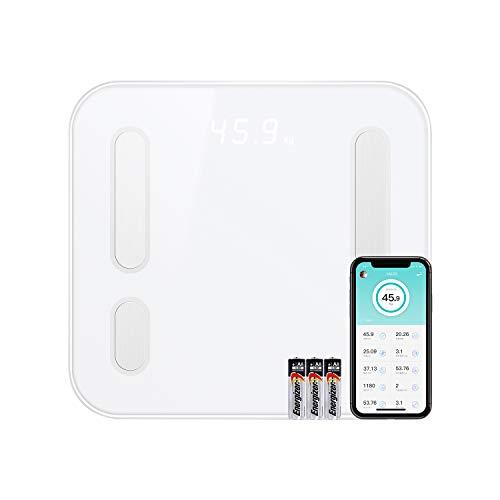 CooSpo Home Körperfettwaage Bluetooth Personenwaage mit APP Digital Körperwaage für BMI, Körperfett, Fettgewicht, Muskelgewicht, Protein, BMR und ideales Körpergewicht bis 180kg, 396lb