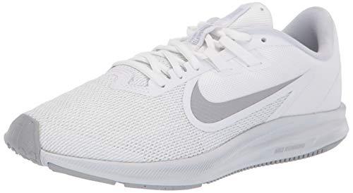 Nike Downshifter 9, Scarpe da Corsa Donna, Bianco (White/Pure Platinum/Wolf Grey), 36.5 EU