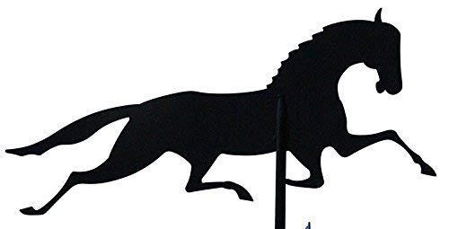 Svenska Wetterfahne Windfahne Windspiel Pferd schwarz aus Stahl groß Höhe 82 cm