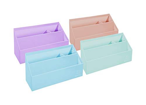 Exacompta 67996D - Carpeta vertical con 3 compartimentos de cartón, colores pastel