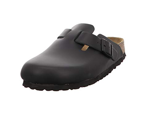 Birkenstock Boston , Zoccoli unisex adulto - Nero, 38 EU (stretta)