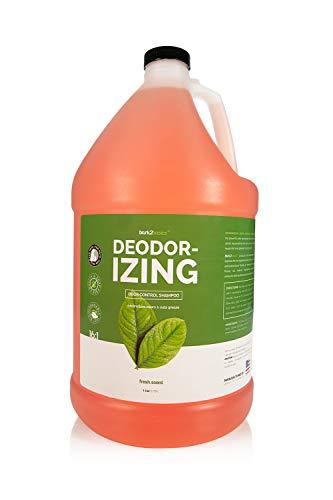 Bark 2 Basics Deodorizing Dog Shampoo, 1 Gallon | Powerful Odor Neutralizer Odortrol, Naturally Derived Ingredients, Eliminates Smelly Pet Odors, Powerful Deodorizing Formula, Professional Grade